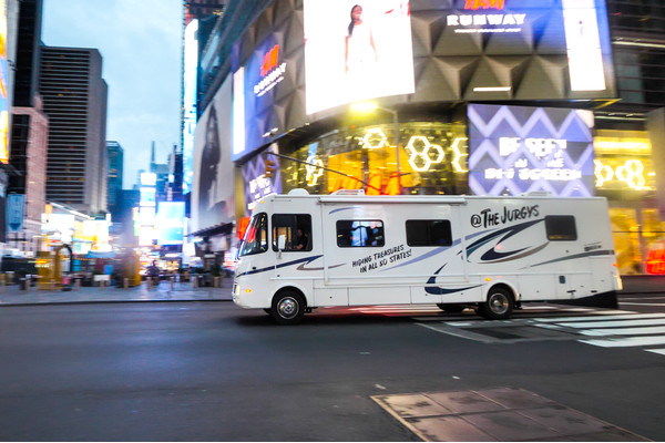 Our First RV Drive through New York City