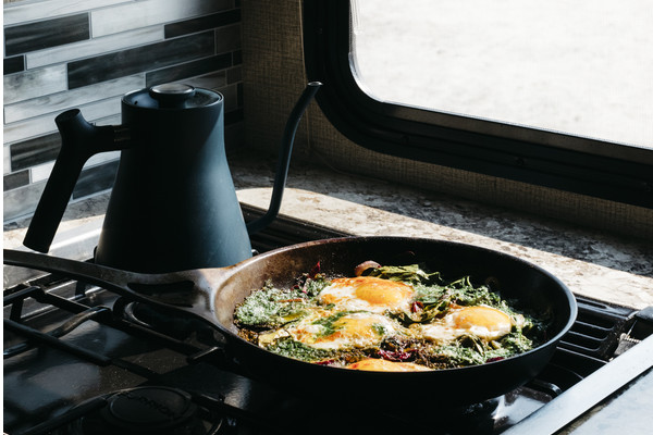Swiss Chard and Pesto Shakshuka