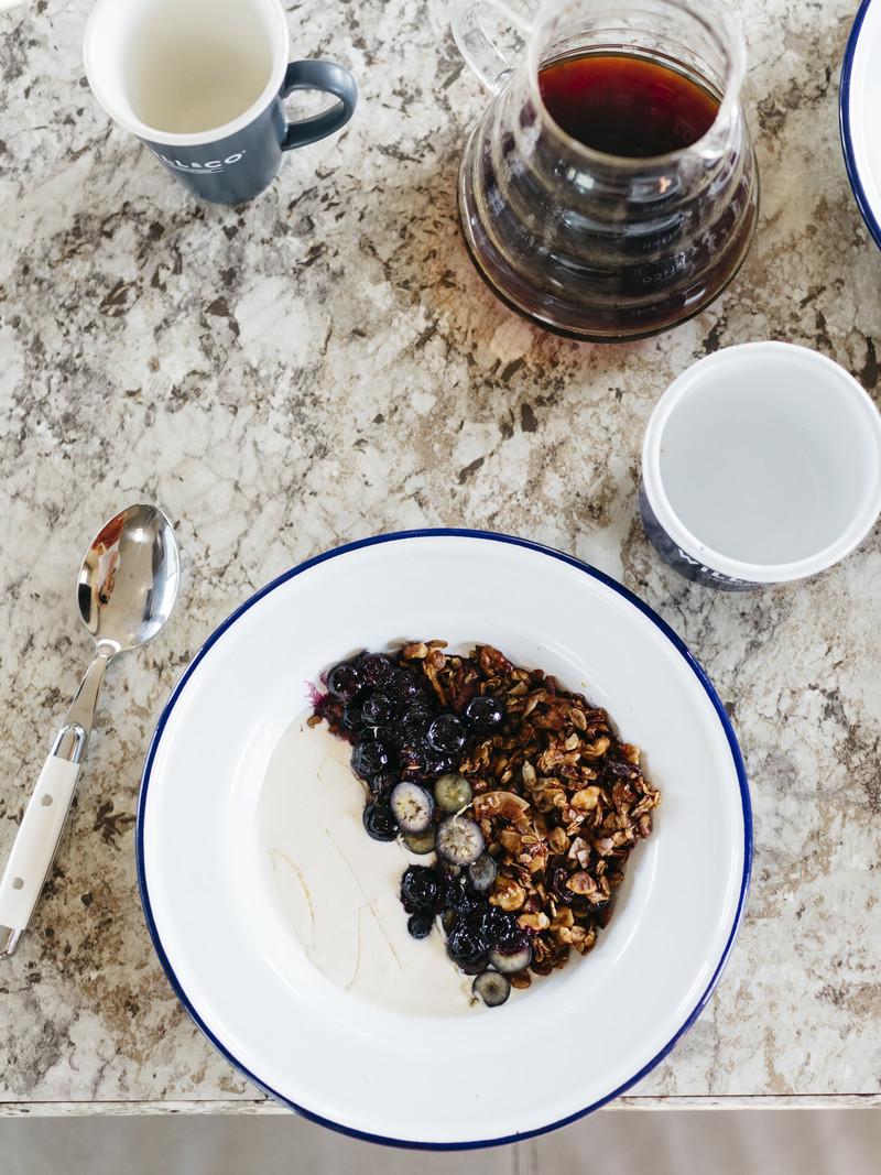 Hemp Granola with Blueberries