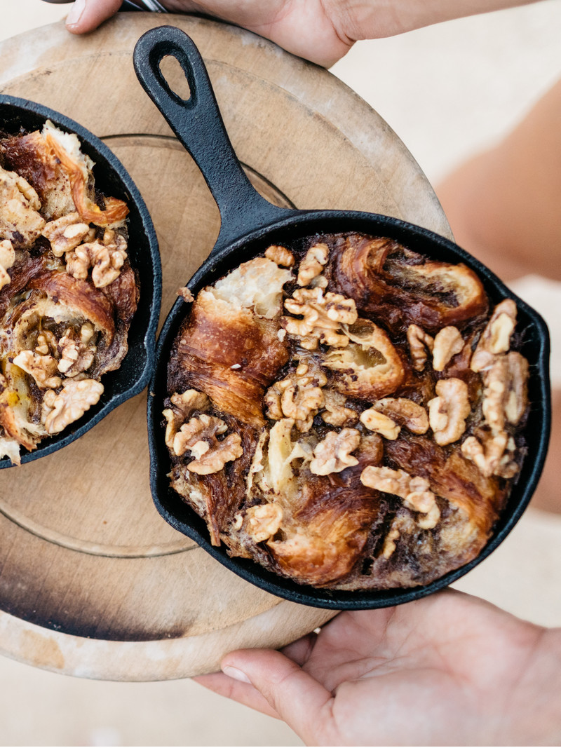 <h1>Caramelized Maple Walnut Croissant Pudding</h1>